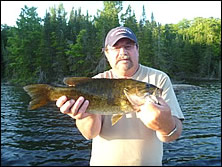nice smallmouth caught on a remote outpost lake